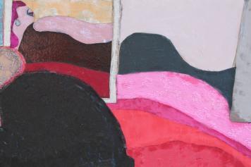 Detail of 'Woman in Black Dress'