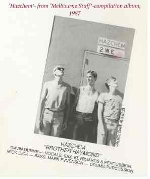 292.group, 'Hazchem' from 'Melbourne Stuff' compilation album,'87