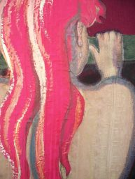 detail of 'Pink Hair'