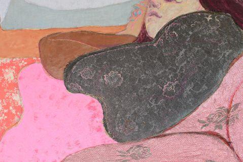 Detail of 'Fleur reclining'