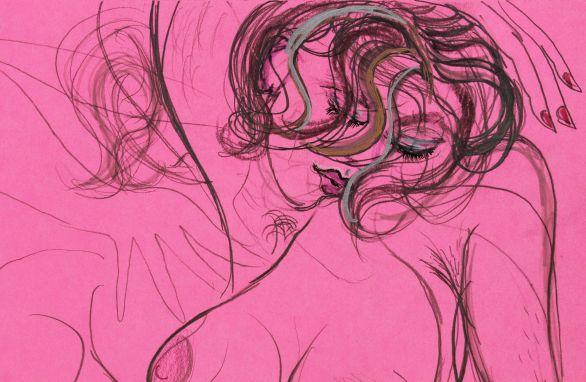 detail of 'Tijana at St.Kilda drawing '18'