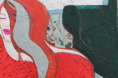 detail of 'Woman in red'