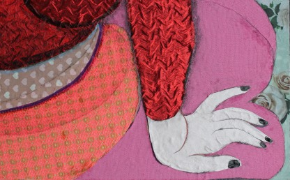 detail 2 of 'Woman in red'