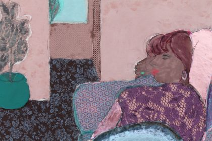Detail of 'Woman in white boots'