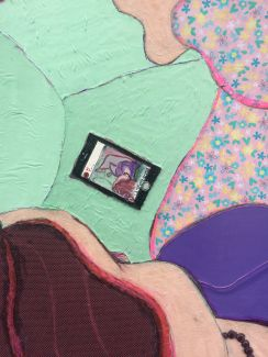 Detail of 'With her phone' 2020