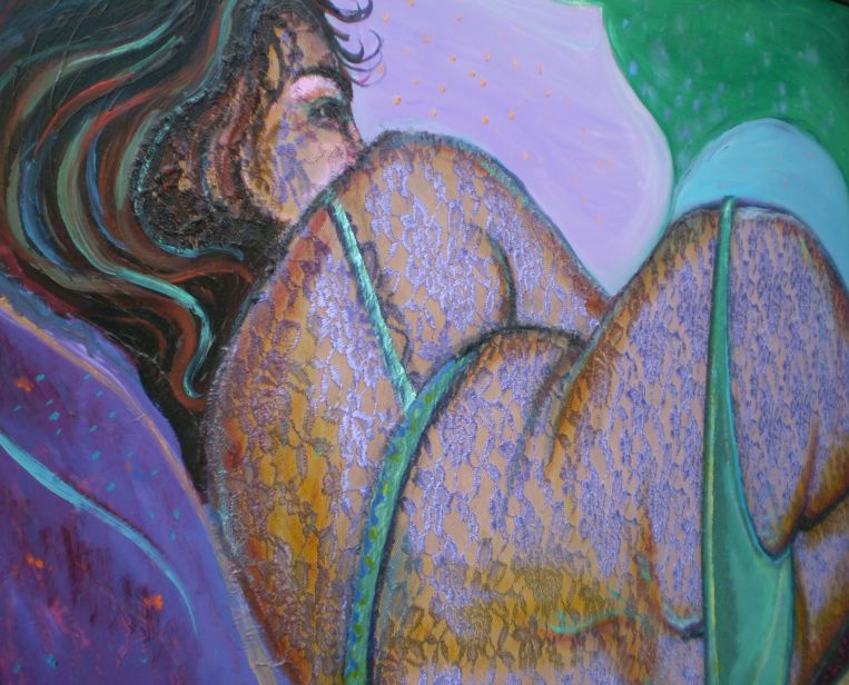 detail/angle of 'Yasmin in green bakini'