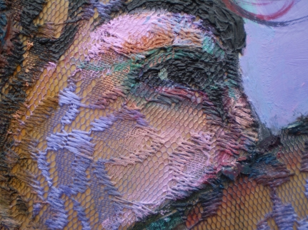 detail of 'Yasmin in green bakini'