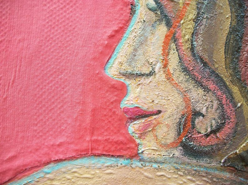detail of 'Woman with cane chair'