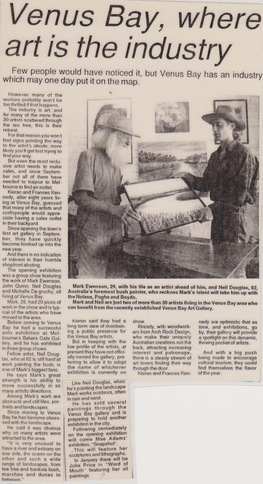 201.ARTICLE WITH NEIL DOUGLAS 1993.courtesy Sentinnel Times