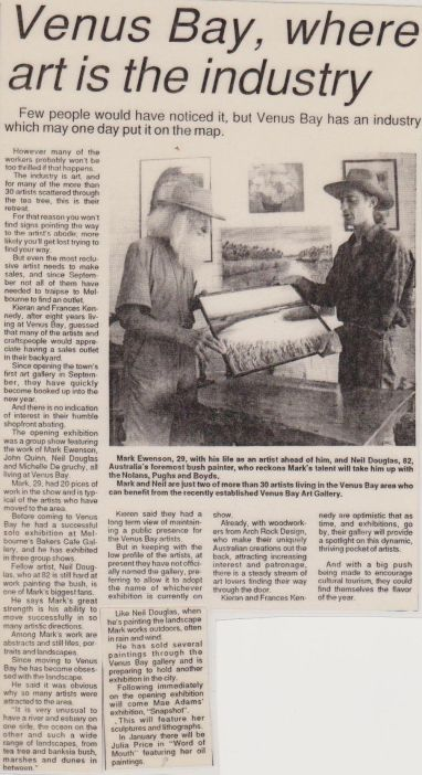 Article with Neil Douglas 1993