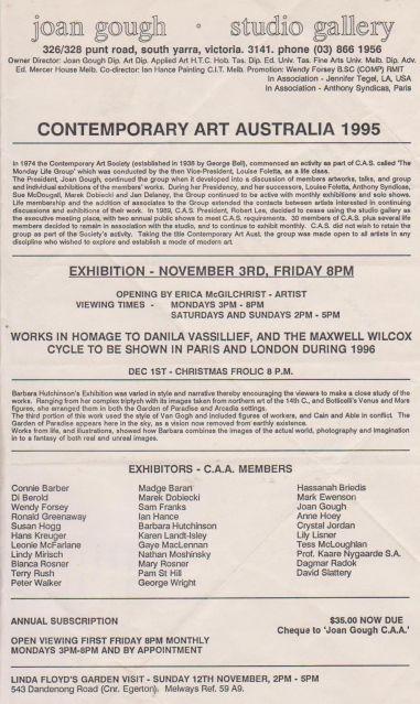 Contemporary Art Australia, 1995