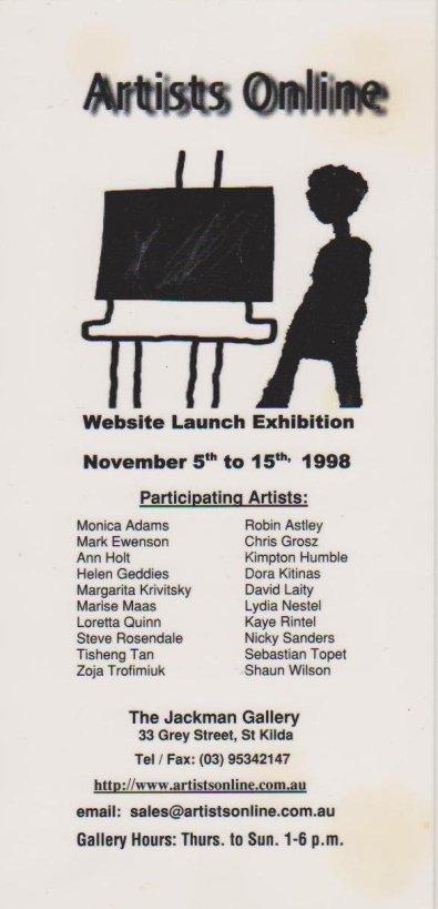 207.Jackman Gallery,online 1998