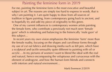 Painting the feminine form-2019 statement