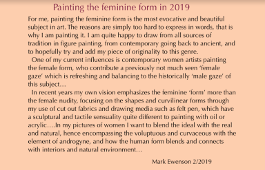 Painting the feminine form-2019 statement