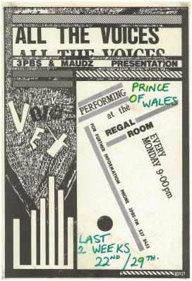 287. 'All the voices' series of gigs at Prince of Wales,St.Kilda 1985