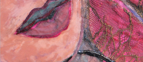 Very close up of lips area in 'Voluptuous'